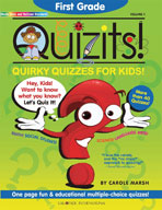 First Grade Quizits!: Quirky Quizzes For Kids!