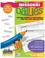 Missouri Dailies: 180 Daily Activities for Kids