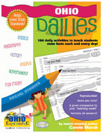 Ohio Dailies: 180 Daily Activities for Kids