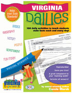 Virginia Dailies: 180 Daily Activities for Kids