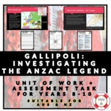 GALLIPOLI: INVESTIGATING THE ANZAC LEGEND
