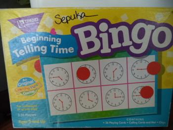 GAME BINGO TELLING TIME