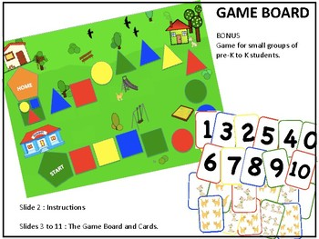 GAME BOARD - BONUS game for pre-K, K