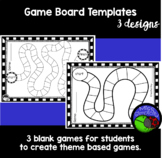 GAME BOARD TEMPLATE - kids create theme based games!