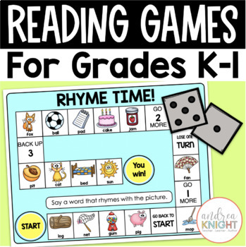 GAME BOARDS:  Primary Reading Skills