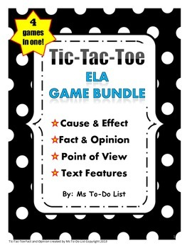 GAME BUNDLE - Point of View, Text Structure, Cause/Effect, Fact/Opinion
