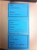 GAME: CHAIN CARDS- CONSTITUTION, BILL OF RIGHTS, AMENDMENTS - Fun Review