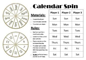 GAME: Calendar Spin