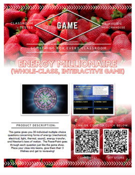 GAME - Energy Millionaire (Science)
