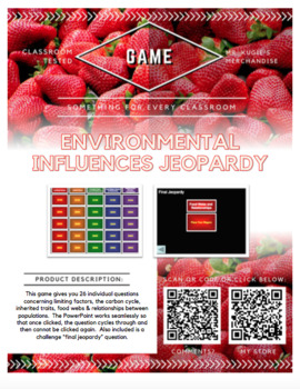 GAME - Environmental Influences Jeopardy (Science)