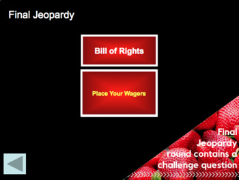 GAME - Government Jeopardy (Social Studies)