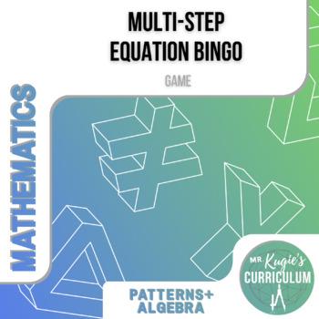 GAME - Multi-Step Equation Bingo (Math)