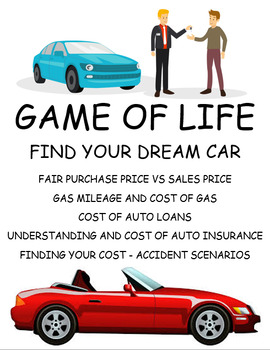 GAME OF LIFE - BUY DREAM CAR - AUTO LOANS AND INSURANCE
