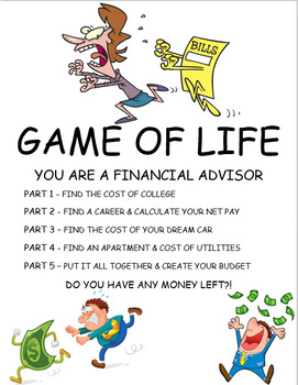 GAME OF LIFE - YOU ARE A FINANCIAL ADVISOR