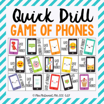 GAME OF PHONES Quick Drill {for any skill drill}