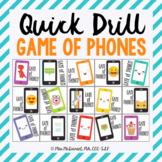 Quick Drill Game Of Phones {for speech therapy or any skil