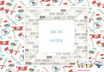 GAME OF THE GOOSE (board game board) KNIGHTS * JOC DE LA O