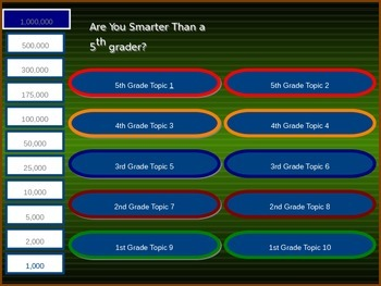 GAME- R U Smarter than a 5th grader Buen Viaje 2 Chapter 2
