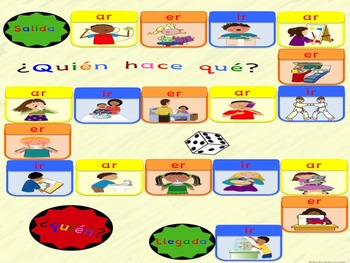 GAME SPANISH VERBS JUEGO VERBOS ESPAÑOL