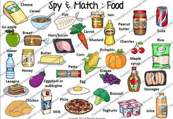 "GAME - Spy & Match ""Food"""