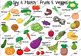 "GAME - Spy & Match ""Fruits & Veggies"""