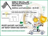 GAME: Super Speedway Math Fun, Addition/Subtraction, 0-10, 1st Grade CCS