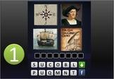 """GAME:""""4 PICTURES &A WORD"""" RevWar,Explore,Colonize,Declarat"""