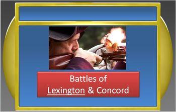 REVOLUTIONARY WAR:Jeopardy Game - American Revolution