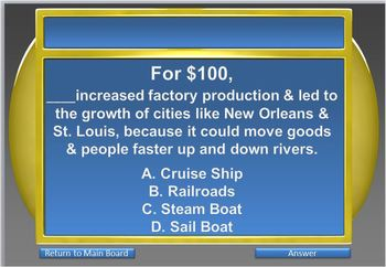 INDUSTRIALIZATION: Jeopardy Game - Industrial Revolution - Day 6