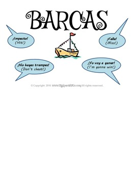 GAMES: BARCAS FOR MIDDLE OR HIGH SCHOOL SPANISH