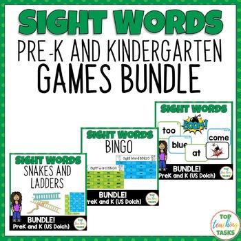 GAMES BUNDLE PreK & K (Dolch) Practice Games