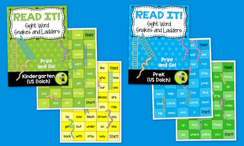 GAMES BUNDLE PreK & K Dolch Practice Games