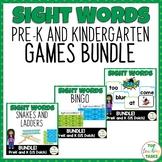 Pre-K and Kindergarten Sight Word Games Bundle Dolch