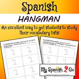 GAMES: Hangman (El ahorcado) in Spanish.  Worksheet or Handout