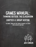 GAMES MANUAL: Chapter 4 - Group Sorting