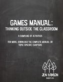 GAMES MANUAL:  Back to School Activities for Every Grade