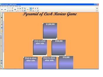 GAMES!  Money Pyramid Template--SMARTboard Game