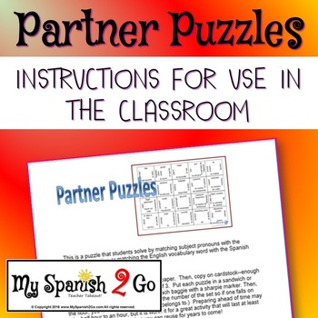 GAMES: Partner Puzzles Instructions