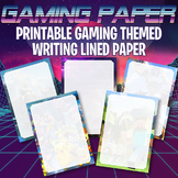 GAMING PRINTABLE LINED PAPER - FORTNITE Minecraft God of War Pokemon Overwatch