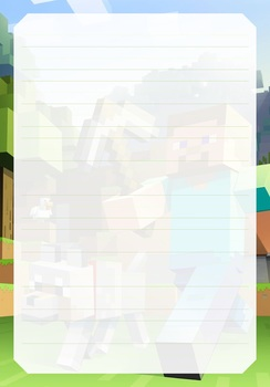 graphic relating to Minecraft Printable Paper named GAMING PRINTABLE Covered PAPER - FORTNITE Minecraft God of War Pokemon Overwatch