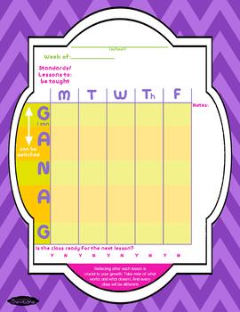 GANAG Description and Blank Plans!