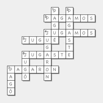 GAR Preterit Puzzles for Beginners of Spanish