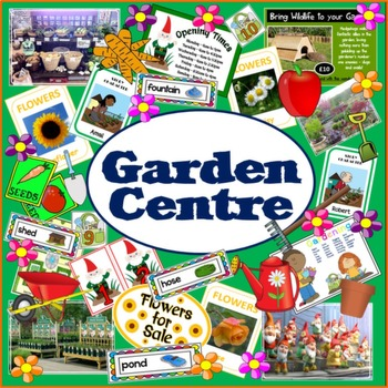 GARDEN CENTRE ROLE PLAY PLANTS FLOWERS TEACHING RESOURCES