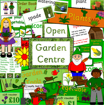 GARDEN CENTRE role play pack- dramatic play