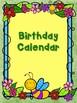 GARDEN THEMED BIRTHDAY CHART CLASSROOM DECOR  WITH FREE CLASSROOM BUNTINGS!!