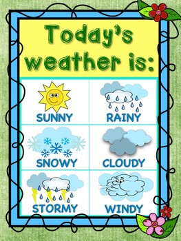 graphic about Weather Chart Printable identify Backyard THEMED Temperature CHART PRINTABLE CLASSROOM DECOR PACK!