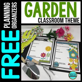 GARDEN Theme Decor Planner by Clutter Free Classroom