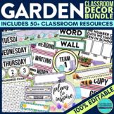 GARDEN THEME Classroom Decor EDITABLE