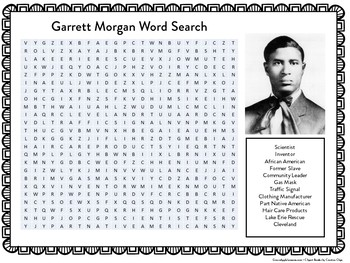 Garrett Morgan | Garrett Morgan Activity | Garrett Morgan Word Search