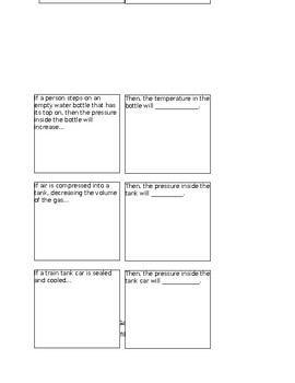 GAS LAWS FOLDABLE